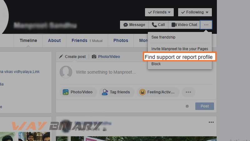 Find Support or Report Profile