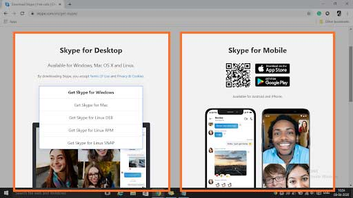Install Skype On Your Device